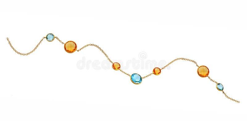 Goldene Halskette lizenzfreie stockbilder