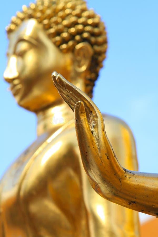 Goldene Hand stockbild