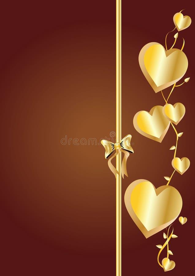 Goldene Herzen lizenzfreies stockbild
