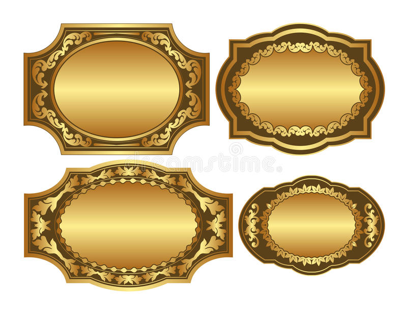 Goldene Hintergründe Lizenzfreie Stockfotos