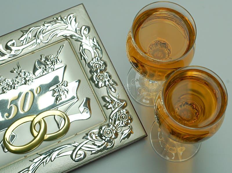 Goldene Hochzeit lizenzfreie stockfotos