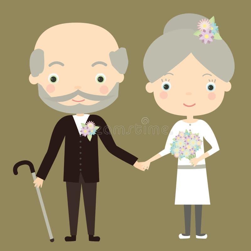 Goldene Hochzeit stockfotos