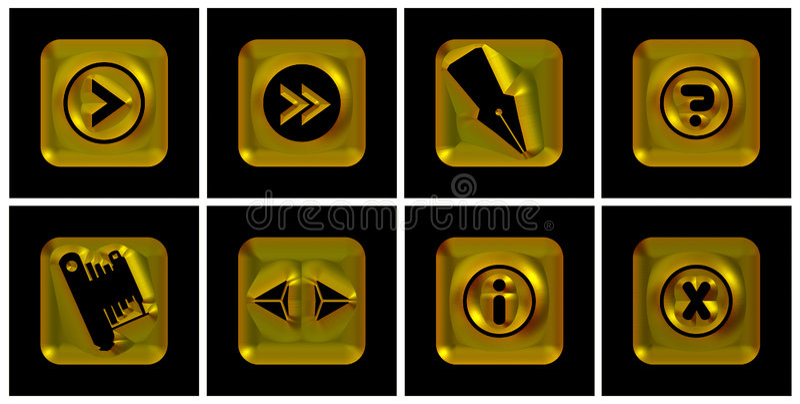 Goldene Ikonen stock abbildung