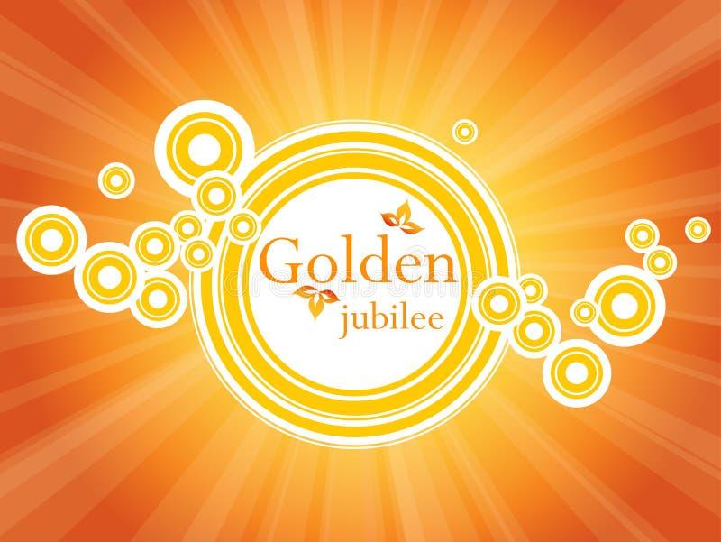 Goldene Jubiläumfahne lizenzfreie abbildung