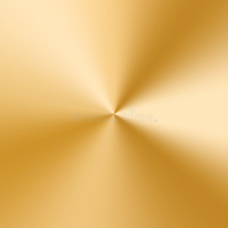 Goldene Kegelsteigung lizenzfreie abbildung