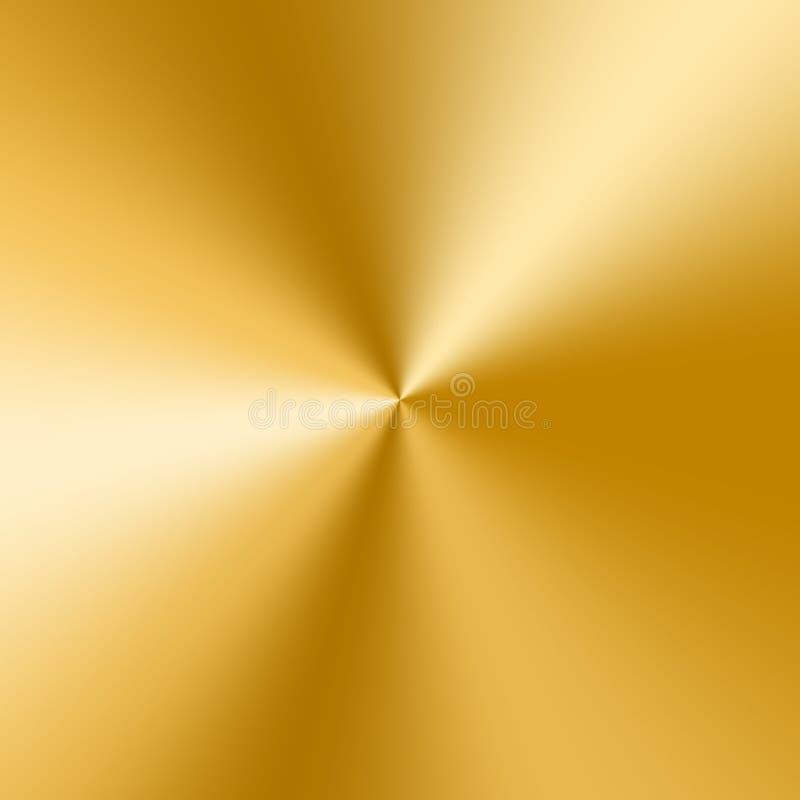 Goldene Kegelsteigung stock abbildung