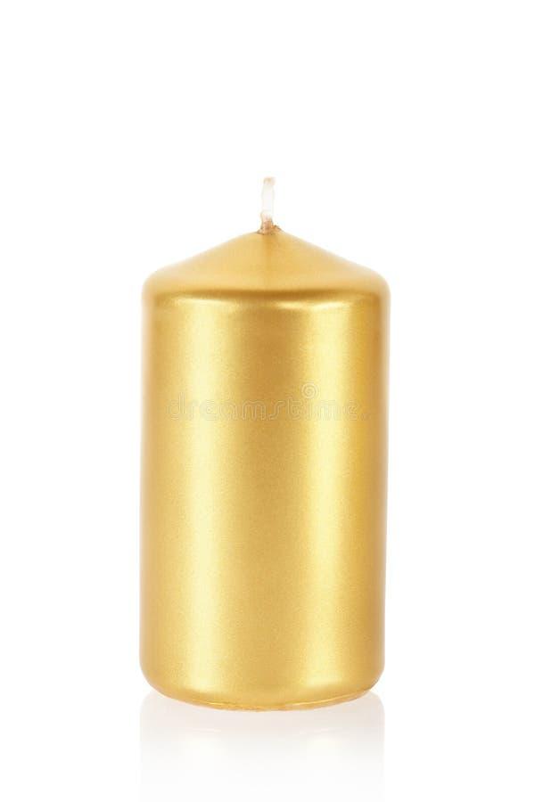 Goldene Kerze stockbilder