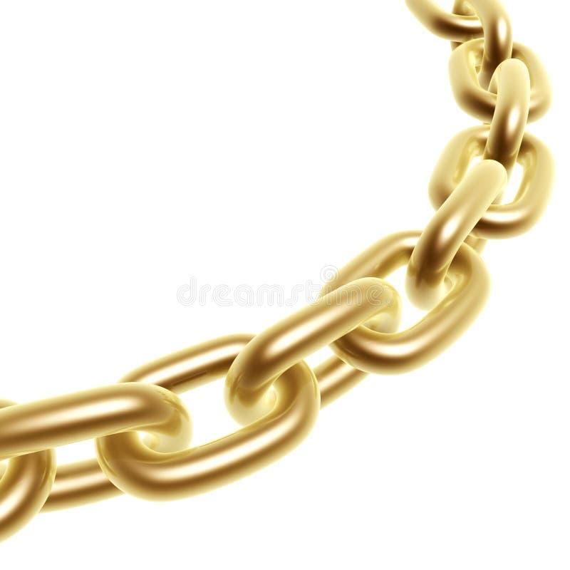 Goldene Kette stock abbildung