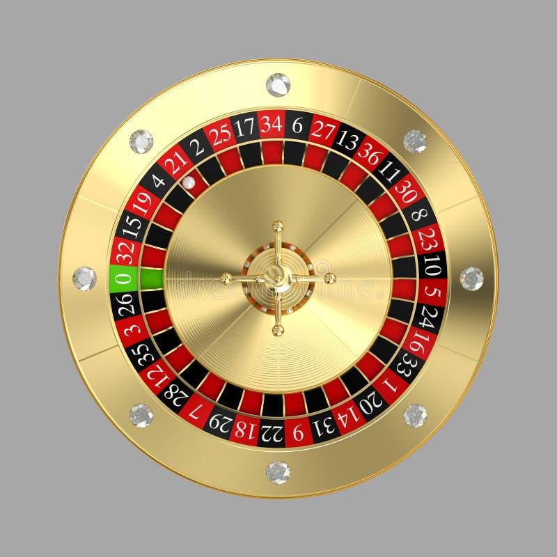 Goldene klassische Roulette lizenzfreie abbildung