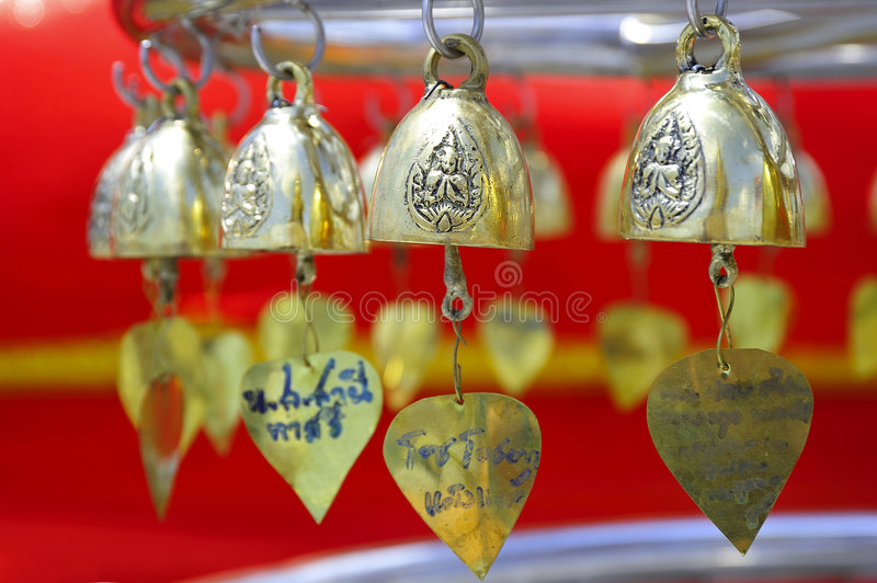 Goldene kleine Glocke Thailand-Bangkok stockfoto