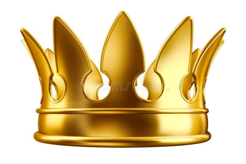 Goldene Krone lizenzfreie abbildung