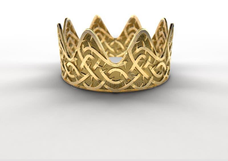 Goldene Krone mit Thorn Patterns vektor abbildung