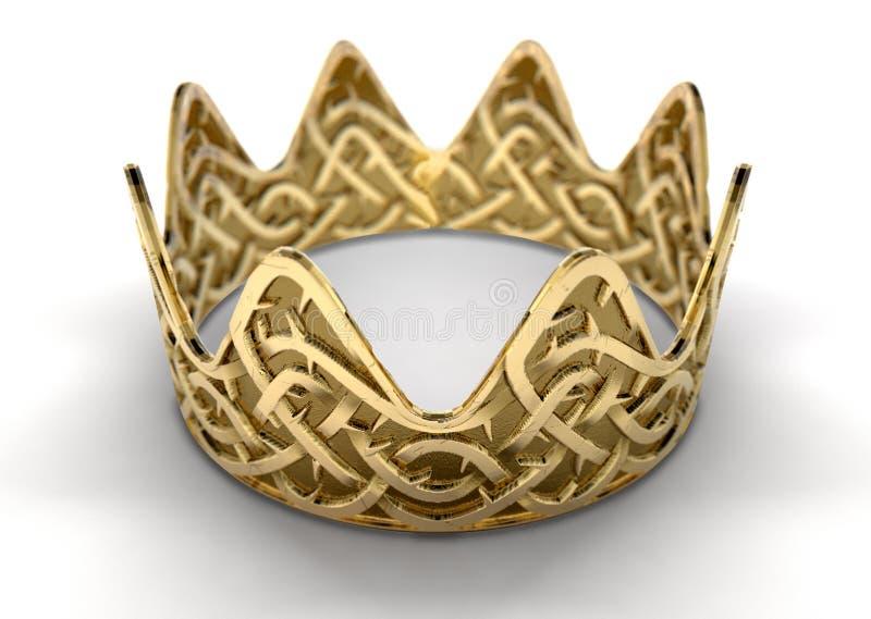 Goldene Krone mit Thorn Patterns lizenzfreie abbildung