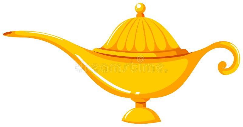 Goldene Laterne in altmodischem Design lizenzfreie abbildung