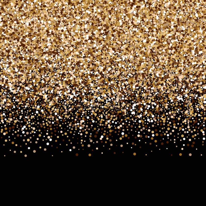 Goldene Leuchte Verzierung für Abdeckung, Glückwunsch, Broschüren, Einladung, Gruß, Fahnen, Broschüren, Broschüren Vektor stock abbildung