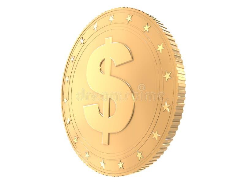 Goldene Münze lizenzfreie abbildung