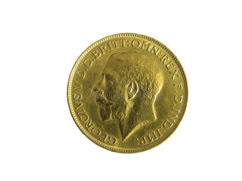 Goldene Münze stockbilder