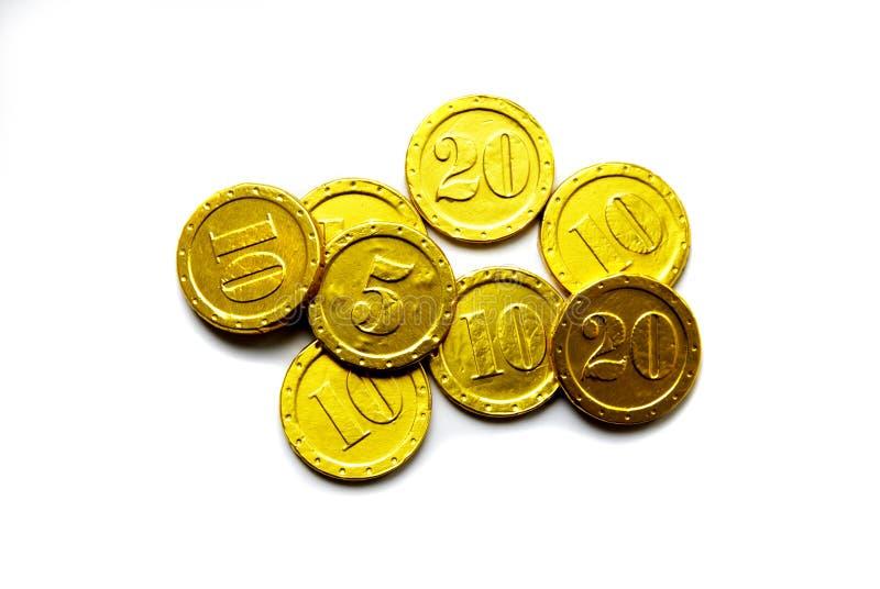 Download Goldene Münze stockfoto. Bild von spalte, querneigung - 9092226