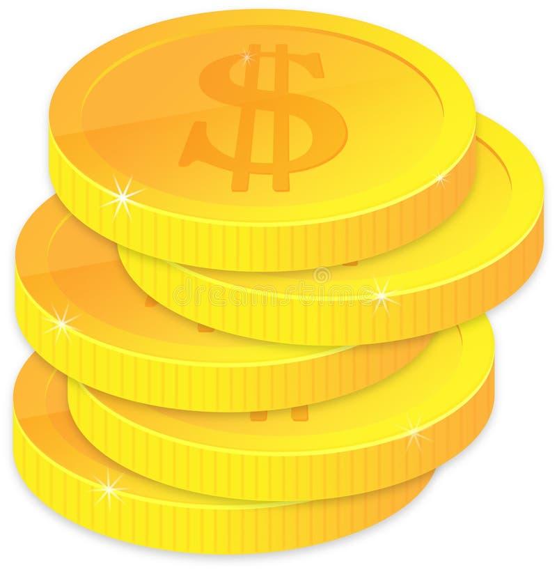 goldene Münzen vektor abbildung