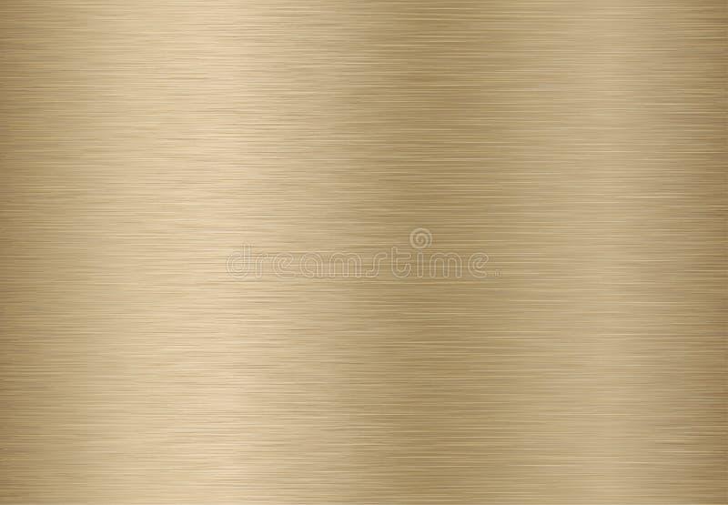 Goldene Metallbeschaffenheit lizenzfreie abbildung