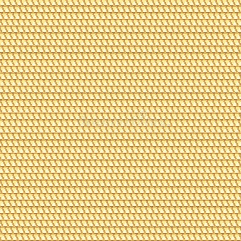 goldene nahtlose Beschaffenheit geometrisches kopiertes backgro stock abbildung