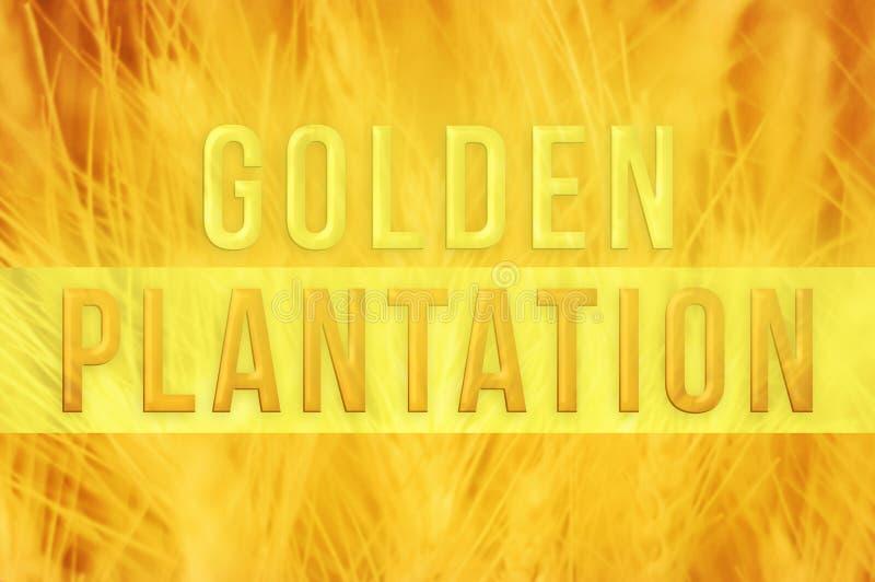 Goldene Plantage lizenzfreie abbildung
