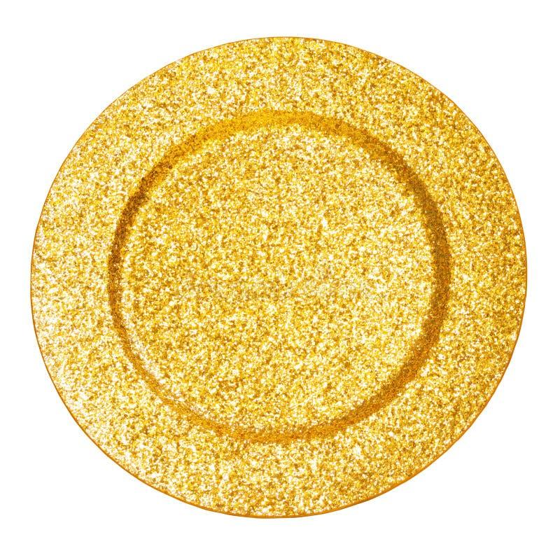 Goldene Platte stockfotografie