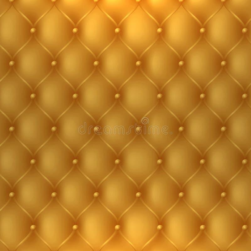 goldene Polsterungsgewebebeschaffenheit, Fahrerhaus wird als Luxus oder premi verwendet vektor abbildung