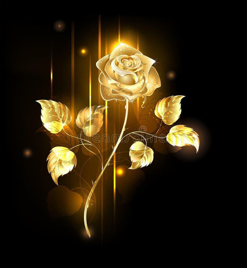 Goldene Rose lizenzfreie abbildung