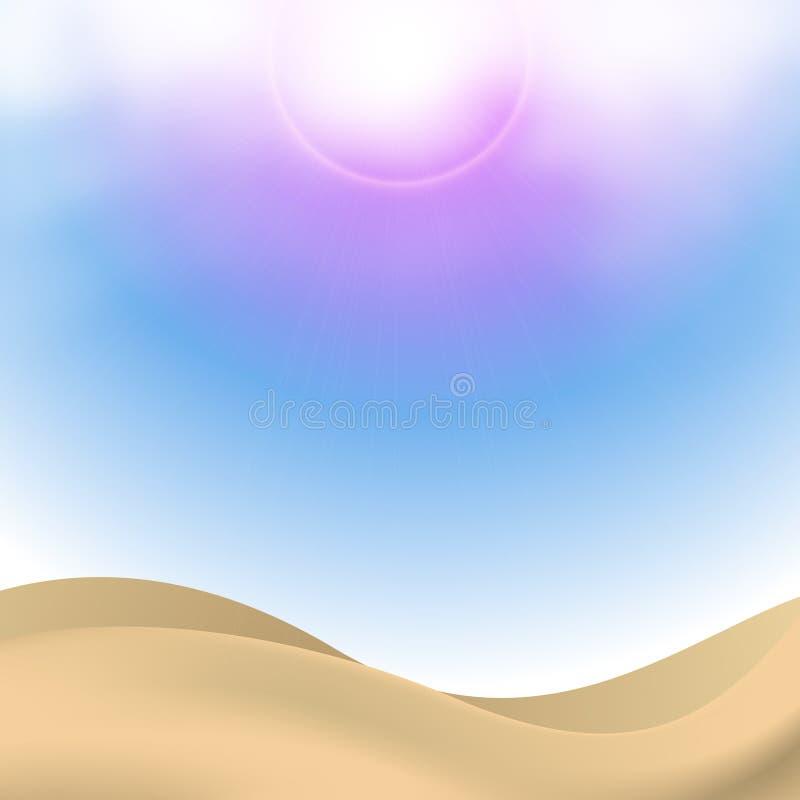 Goldene Sande stock abbildung
