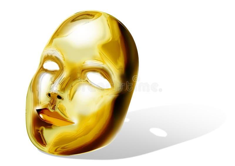 Goldene Schablone lizenzfreie abbildung