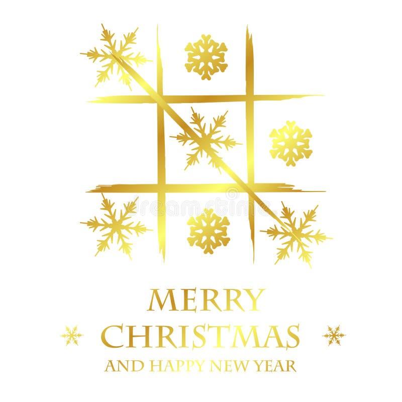 goldene schablone der frohen weihnachten stock abbildung. Black Bedroom Furniture Sets. Home Design Ideas
