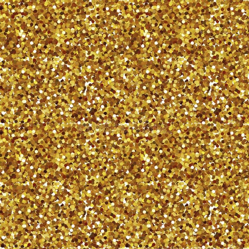 Goldene Scheine, nahtloses Muster stock abbildung