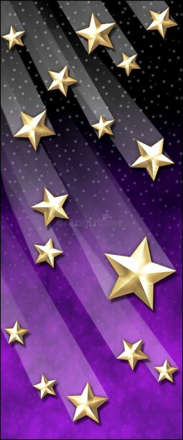 Goldene Schießen-Sterne vektor abbildung