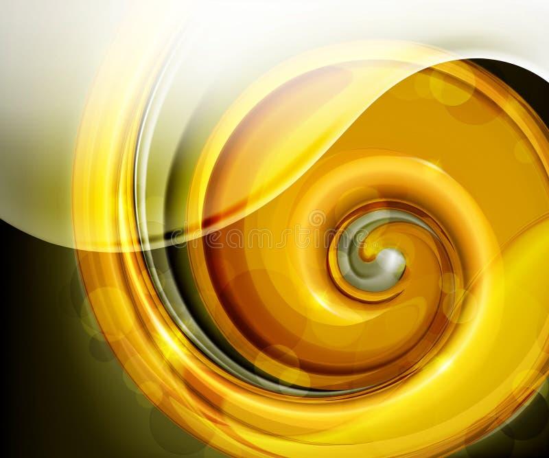 Goldene Spirale lizenzfreie abbildung