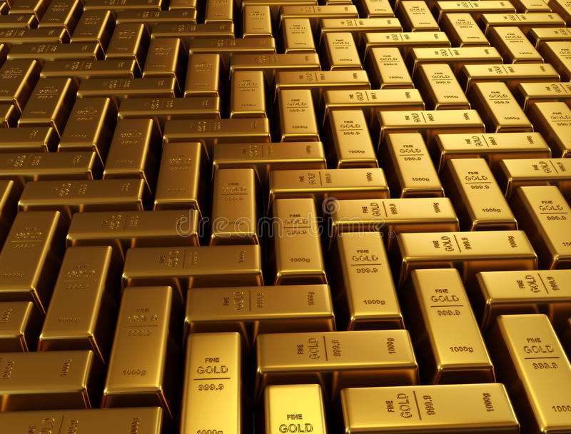 Goldene Stäbe stock abbildung