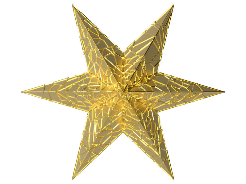 Goldene Starfish lizenzfreie abbildung