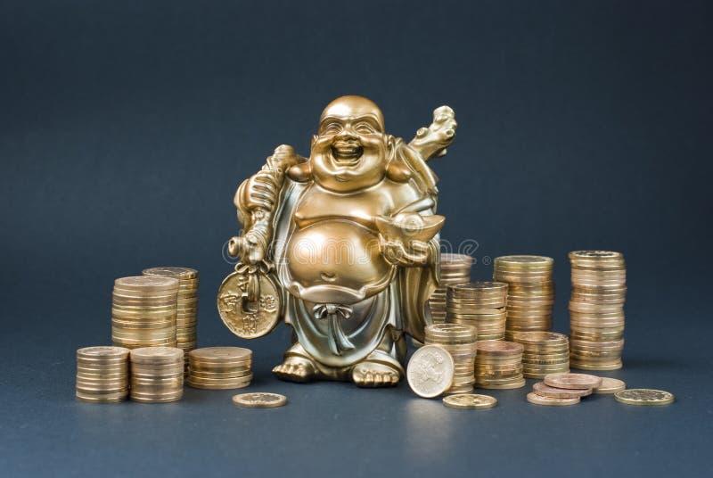 Goldene Statuette stockfoto