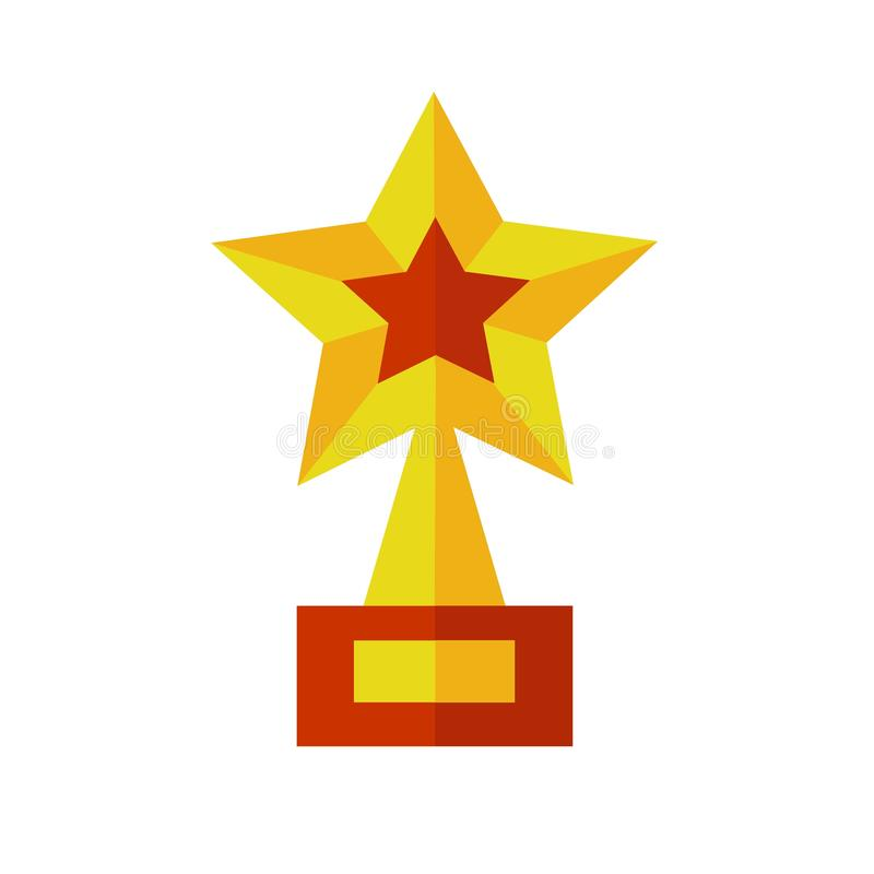 Goldene Stern-Preis-Trophäe vektor abbildung