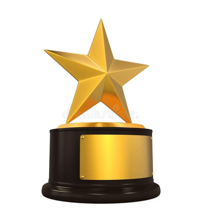 Goldene Stern-Trophäe vektor abbildung