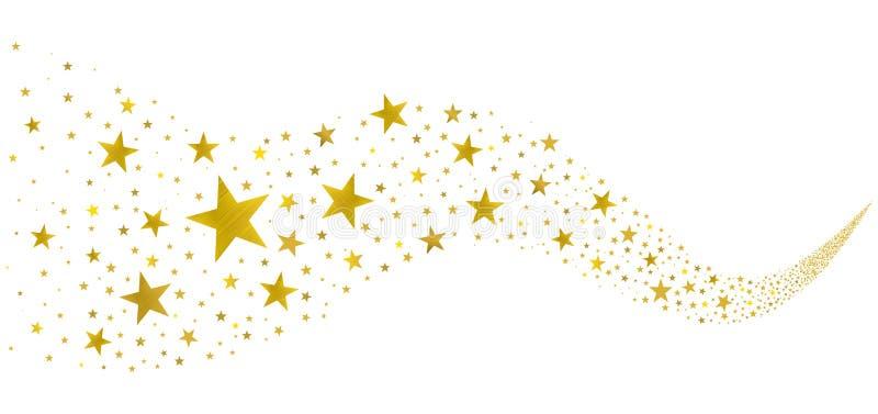 Goldene Sterne im Strom lizenzfreie abbildung