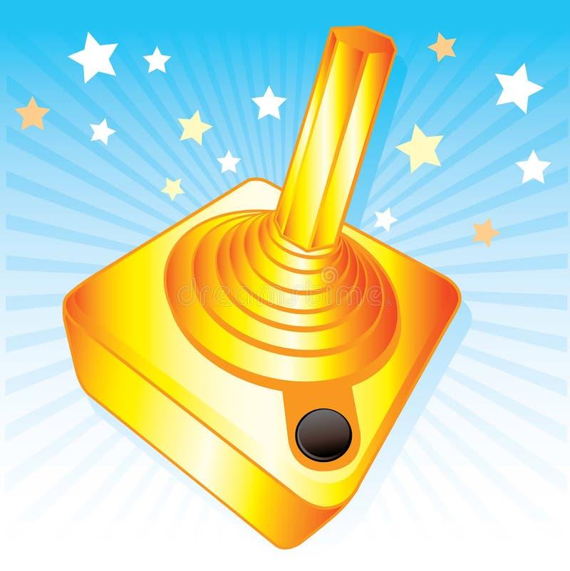 Goldene Steuerknüppel gamers Preis-vektorabbildung vektor abbildung