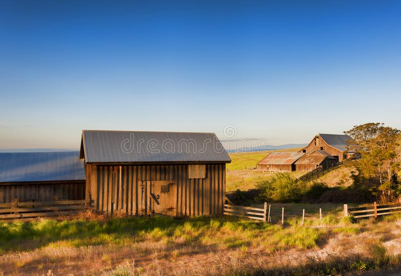 Goldene Stunde bei Dallas Mountain Ranch an Columbia- Hillsstaat lizenzfreie stockfotografie