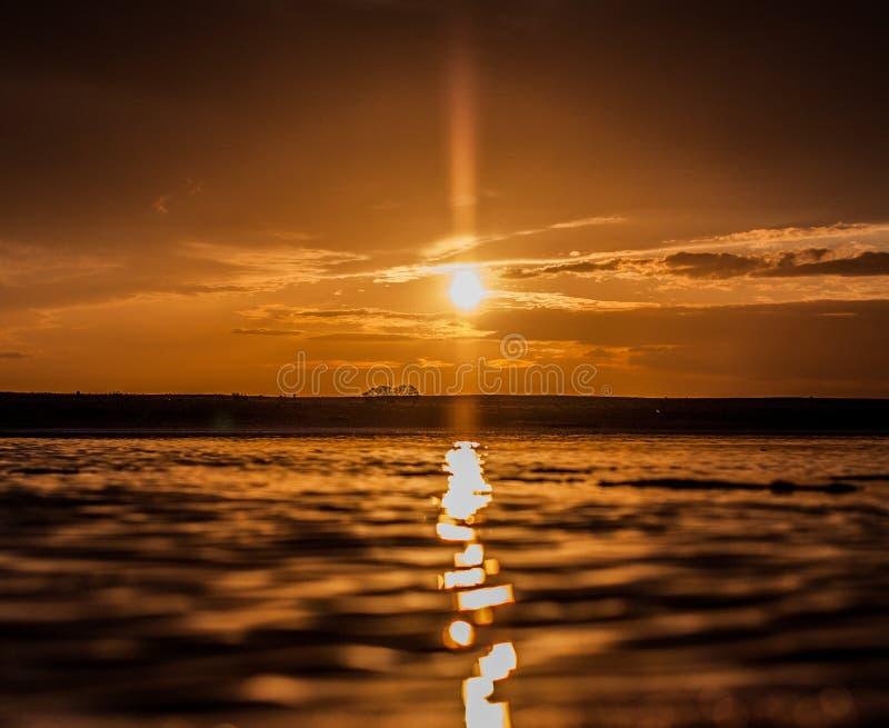 Goldene Stunde in Sanlucar de Barrameda lizenzfreie stockfotografie