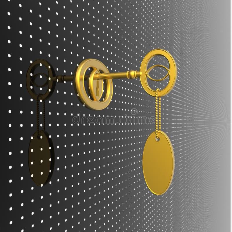 Goldene Taste vektor abbildung
