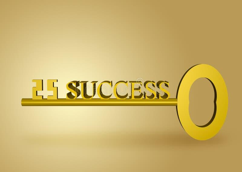 Goldener Schlüssel Zum Erfolg Stockbilder