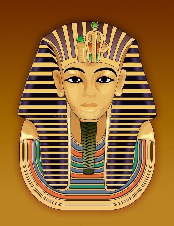 Goldene Totenmaske des Pharaos vektor abbildung