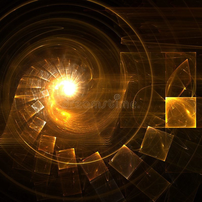Goldene Treppen lizenzfreie abbildung