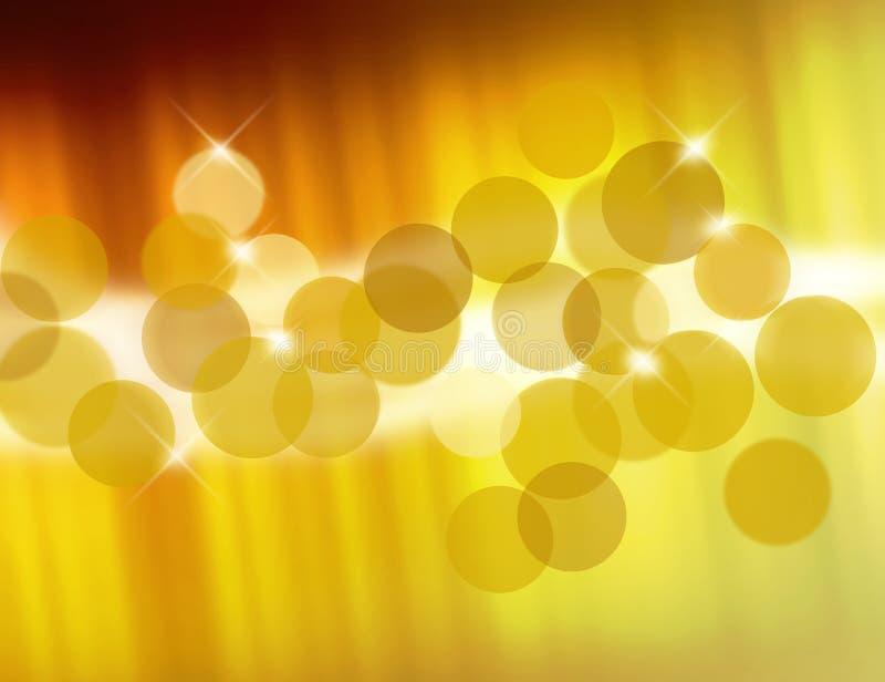 Goldene Unschärfen vektor abbildung