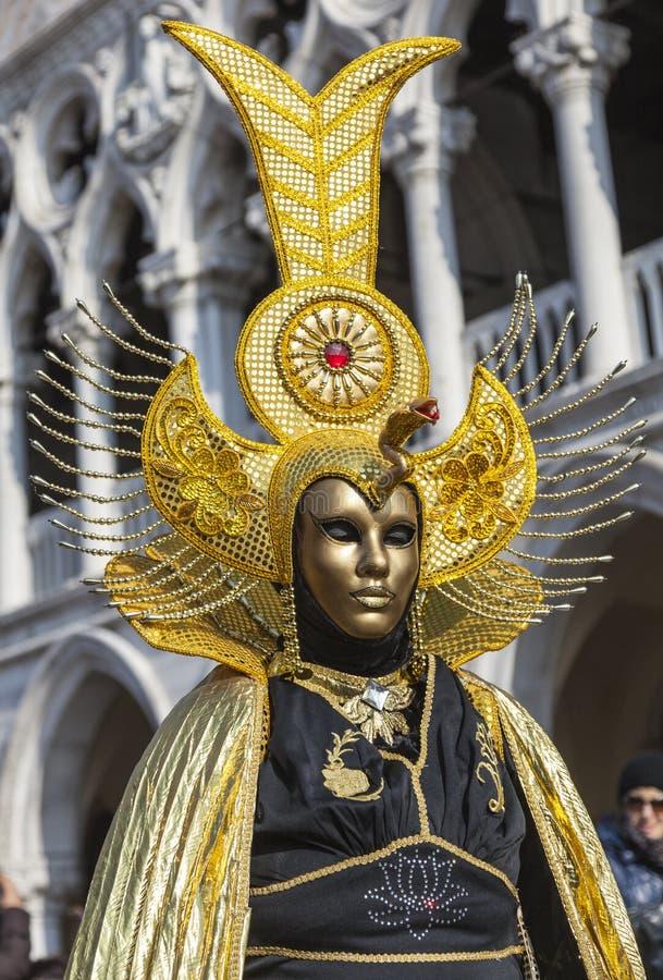 Goldene Venetianische Verkleidung Redaktionelles Stockbild